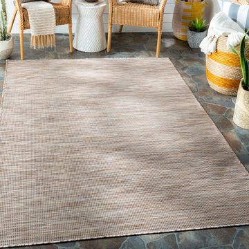 """Art of Knot Zalie Dark Brown 7'8"""" x 10' Traditional Solid Rectangle Area Rug"""