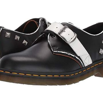 Dr. Martens 1461 Zambello Stud (Black/White Vintage Smooth/Smooth) Shoes