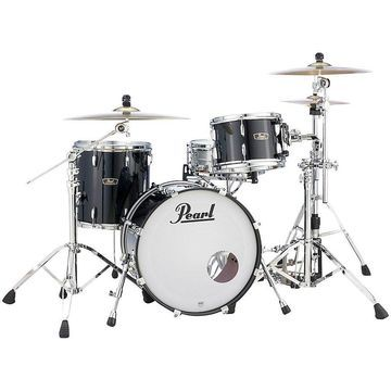 Pearl Vintage Hybrid Wood Fiberglass Series 3-Piece Shell Pack with 20 in. Bass Drum Piano Black