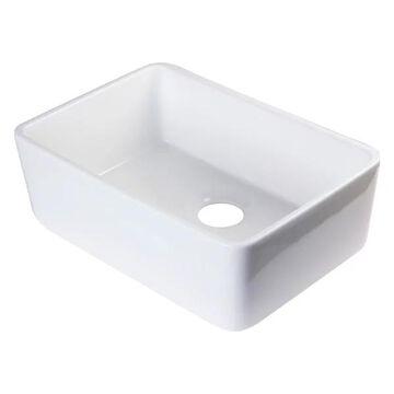 ALFI brand AB503-W Fireclay 23'' Single Farmhouse Kitchen Sink In Whit