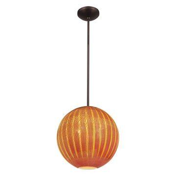 Access Lighting Safari Opaline Glass Ball Pendant - Bronze