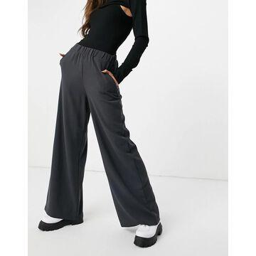 Dr Denim Bell pants in charcoal-Black