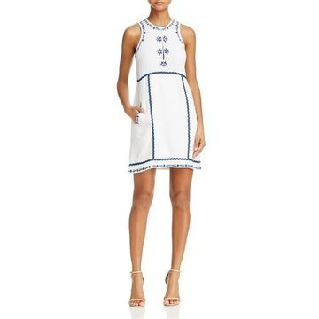 Ella Moss Womens Embroidered Shift Casual Dress