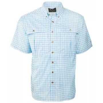 Drake Waterfowl FeatherLite Plaid Wingshooter's Short-Sleeve Button-Down Shirt for Men
