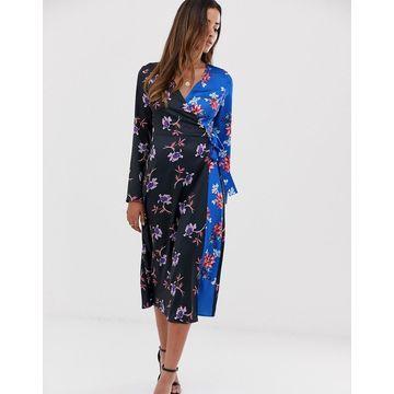 Liquorish midi dress in floral mix print
