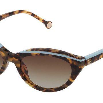 Carolina Herrera SHE833 0778 Men's Sunglasses Tortoise Size 56