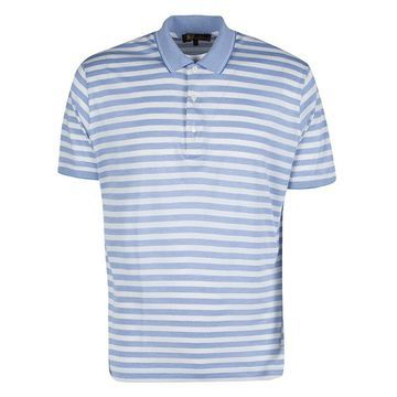 Loro Piana Blue and White Striped Polo T-Shirt L