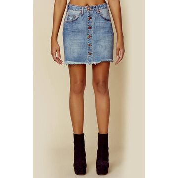 VIPER HIGH WAIST BUTTON THROUGH MINI SKIRT | Sale