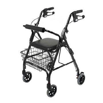Medline 4 Wheeled Walker Black