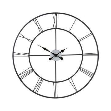 Boston Loft Furnishings Roma Analog Round Wall Clock in Black   ATG4691
