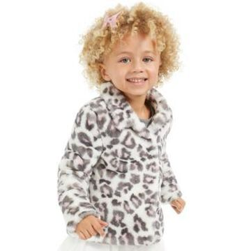 Epic Threads Little Girls Snow Leopard Faux-Fur Jacket, Created For Macy's