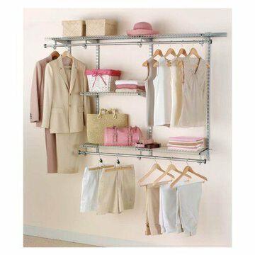 Closet Organizer System Custom Shelf Titanium Rack Storage Shelves Rubbermaid