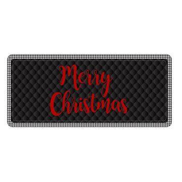 Bungalow Flooring Holiday Houndstooth Premium Comfort Runner Mat - 22