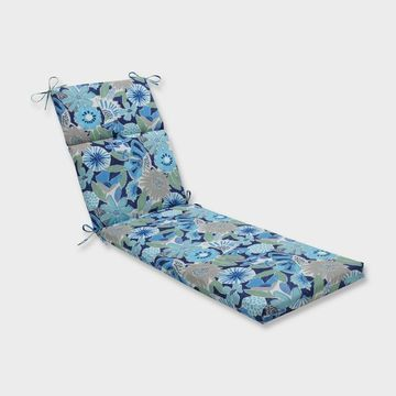 Catching Rays Cobalt Chaise Lounge Outdoor Cushion Blue - Pillow Perfect