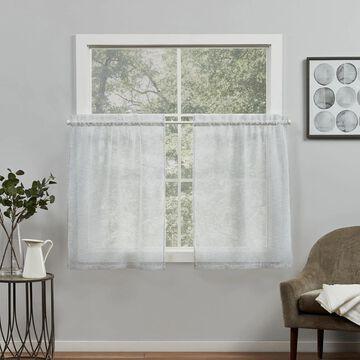 Exclusive Home 2-pack Belgian Sheer Rod Pocket Tier Window Curtains