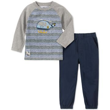 Baby Boys 2-Pc. Helicopter-Print T-Shirt & Jogger Pants Set