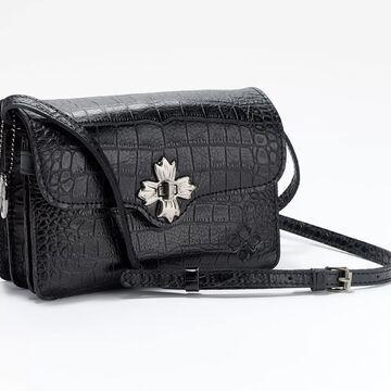 Patricia Nash Leather Croc-Embossed Cerrelli Crossbody