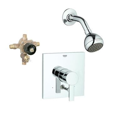 GROHE Allure Starlight Chrome 1-Handle Shower Faucet with Valve