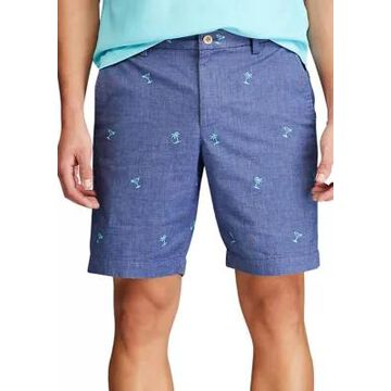 Chaps Men's Printed Stretch Twill Flat Front Shorts - -