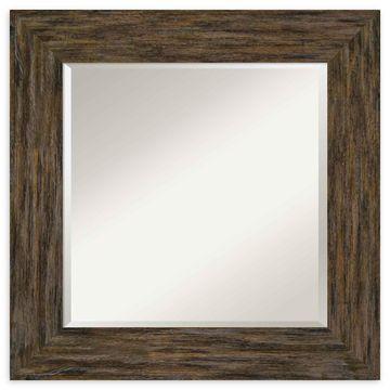 Amanti Art Fencepost Brown Framed Wall Mirror