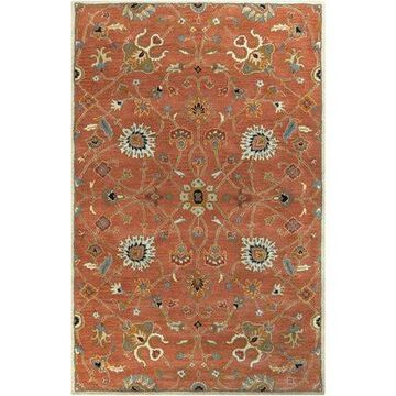 Art of Knot Albi Red 9' x 12' Traditional Oriental Area Rug