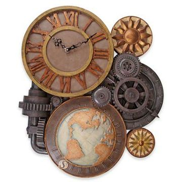 design TOSCANO Gears of Time Sculptural Wall Clock