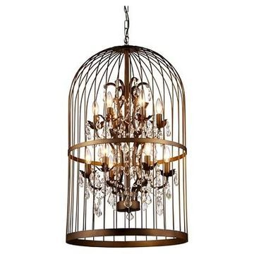 Warehouse Of Tiffany 17 X 17 X 26 Inch Brass Ceiling Lights