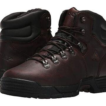 Rocky 6 Mobilite Soft Toe Wide Toe (Dark Brown) Men's Shoes