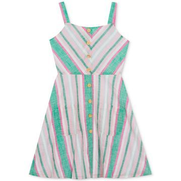 Big Girls Chevron Striped Cotton Sundress