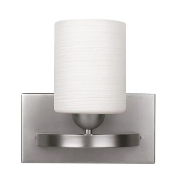 Canarm Hampton 8.25-in W 1-Light Brushed Pewter Modern/Contemporary Wall Sconce ENERGY STAR | IVL370A01BPT