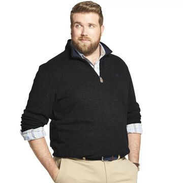 Big & Tall IZOD Advantage Performance Sweater Fleece Quarter-Zip Pullover