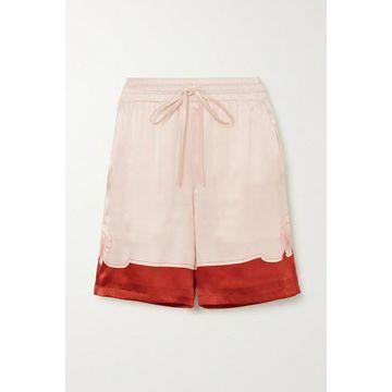 Casablanca - Printed Silk-satin Shorts - Red