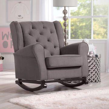 Delta Children Emma Nursery Rocking Chair, Graphite