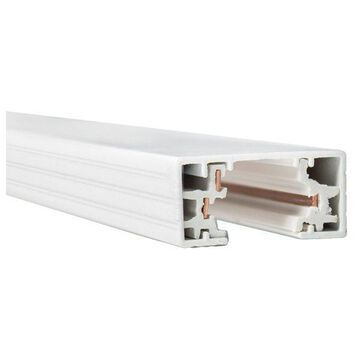 WAC Lighting H Track 8' Single Circuit 120V with 2 Endcaps in White