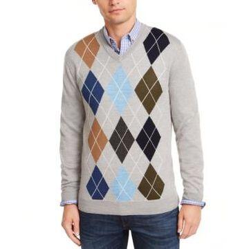 Club Room Men's Argyle Merino Wool Blend Sweater, Created for Macy's
