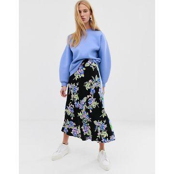 ASOS WHITE floral print skirt