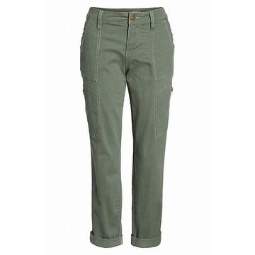 Jag Womens Button-Front Cargo Casual Pants Stretch