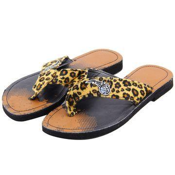 Orlando Magic Women's Cheetah Strap Flip Flops