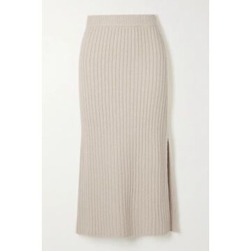 Altuzarra - Orville Ribbed-knit Midi Skirt - Ivory