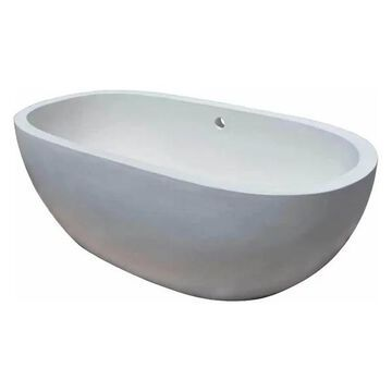 62 in. Handcrafted Avalon Bathtub in Pearl