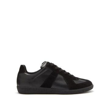 Maison Margiela - Replica Suede-panel Leather Trainers - Mens - Black