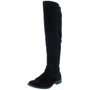 XOXO Womens Trishh 2 Faux Suede Dress Over-The-Knee Boots