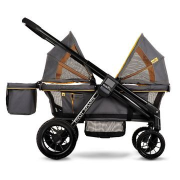 Evenflo Pivot Xplore All-Terrain Double Stroller Wagon - Adventurer Gray