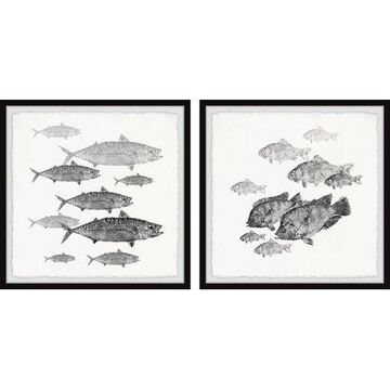 Marmont Hill Fishes in Frame Diptych