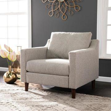 Harper Blvd Davis Transitional Beige Fabric Armchair