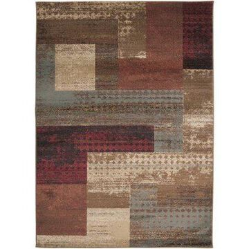 """Art of Knot Kazuno Red 7'10"""" Round Modern Abstract Area Rug"""