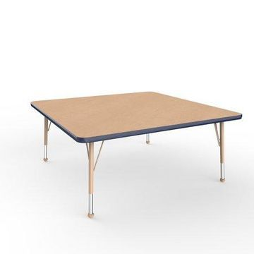ECR4Kids 48in x 48in Square Everyday T-Mold Adjustable Activity Table Maple/Navy/Sand - Toddler Ball