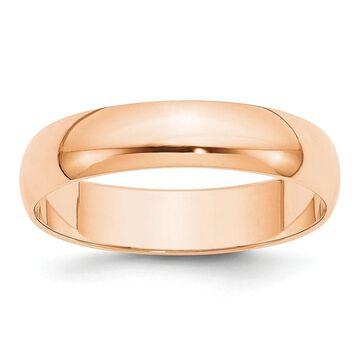 10K Rose Gold 5mm Lightweight Half Round Band Size 10 by Versil