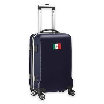 Denco Mojo Mexico Flag 21-Inch Hardside Spinner Carry-On Luggage in Navy