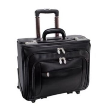 "Mcklein Sheridan 15"" Patented Detachable -Wheeled Catalog Briefcase"